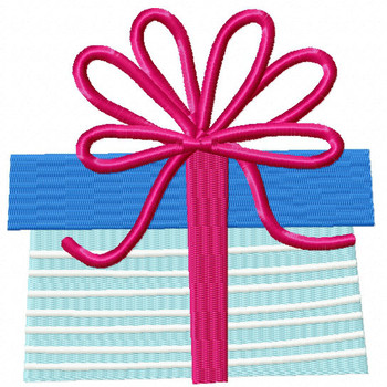 Blue Gift - Christmas Gift #13 Machine Embroidery Design