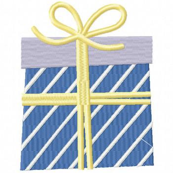 Yellow Ribbon Gift - Christmas Gift #15 Machine Embroidery Design