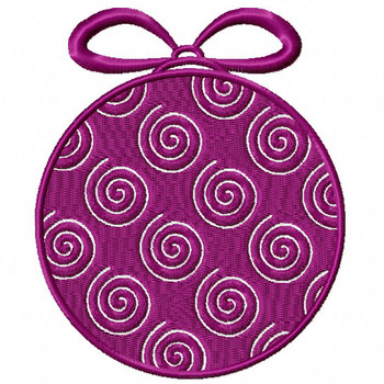 Violet Spiral Ornament - Christmas Ornaments #03 Machine Embroidery Design