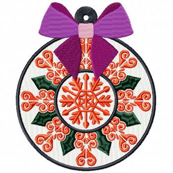 Orange Decorative Ornament - Christmas Ornaments #10 Machine Embroidery Design