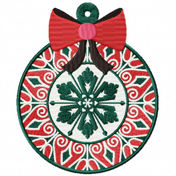 Detailed Decorative Ornament - Christmas Ornaments #09 Machine Embroidery Design