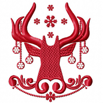 Christmas Antlers #01 Machine Embroidery Design