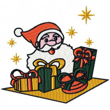 Santa's Gifts - Yuletide Design #04 Machine Embroidery Design