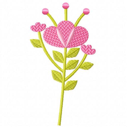 Blush Pink Flower - Flower Embellishment #03 Machine Embroidery Design