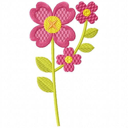Magenta Floret - Flower Embellishment #06 Machine Embroidery Design