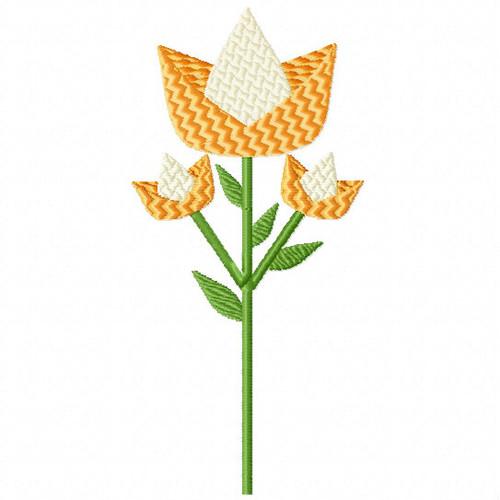 Lovely Yellow Flower - Flower Embellishment #09 Machine Embroidery Design