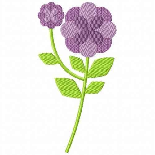 Ravishing Violet Flower - Flower Embellishment #10 Machine Embroidery Design