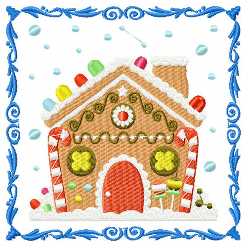 Ginger Bread House - Ginger Breads #02 Machine Embroidery Design