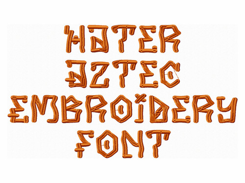 Hater Aztec Embroidery Font