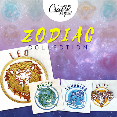 Zodiac Collections Machine Embroidery Designs