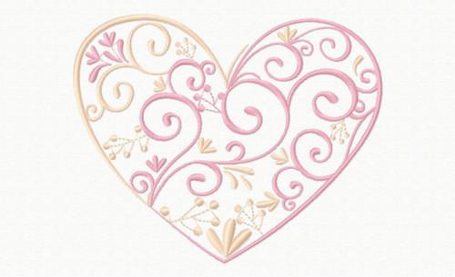 Abstract Heart Swirls #03 Machine Embroidery Design