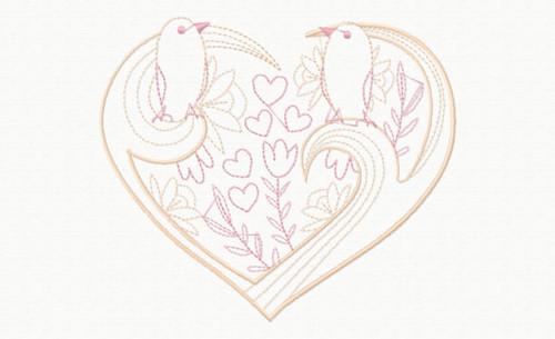 Abstract Heart Swirls #12 Machine Embroidery Design