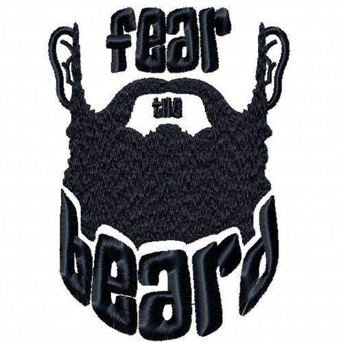 Fear The Beard - Beard Collection #02 Machine Embroidery Design
