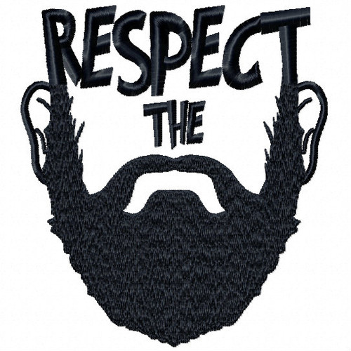 Respect The - Beard Collection #03 Machine Embroidery Design