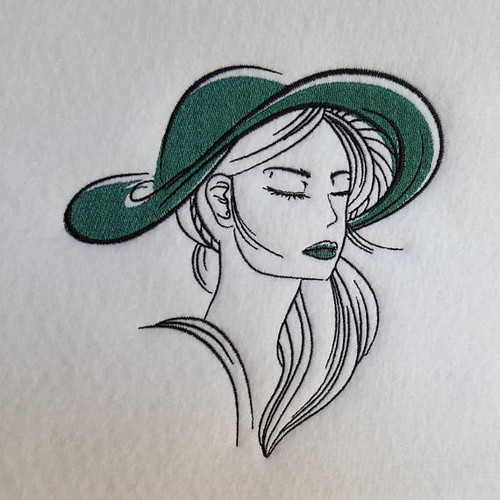 Hat Modern Ladies #3 Machine Embroidery Designs