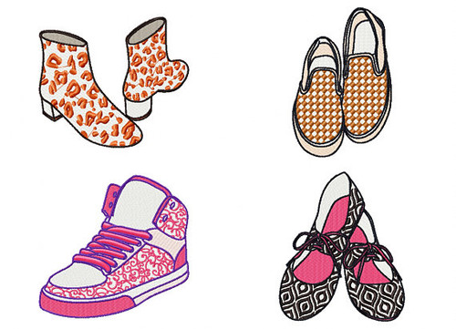 Shoe Collection Bundle #3 Machine Embroidery Designs