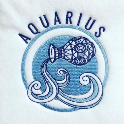 Aquarius - Zodiac Collection #04 Machine Embroidery Design