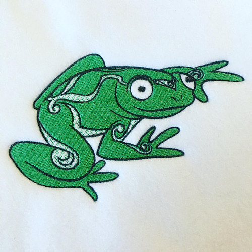 Ornamental Frog - Ornament Animal Collection #25 Machine Embroidery Design