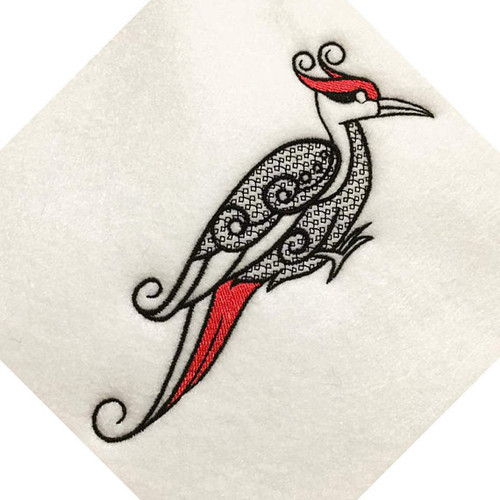Ornamental Woodpecker - Ornament Animal Collection #28 Machine Embroidery Design