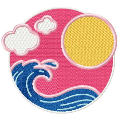 Summer Waves - Summer Beach Collection #01 Machine Embroidery Design