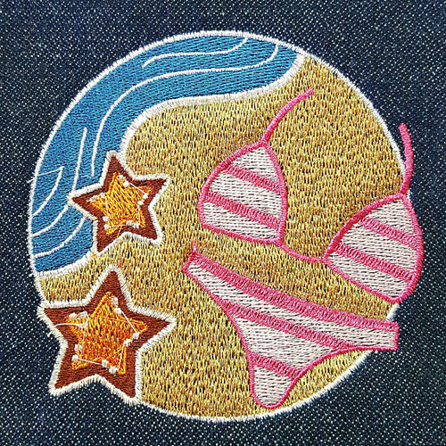 Bikini - Summer Beach Collection #07 Machine Embroidery Design