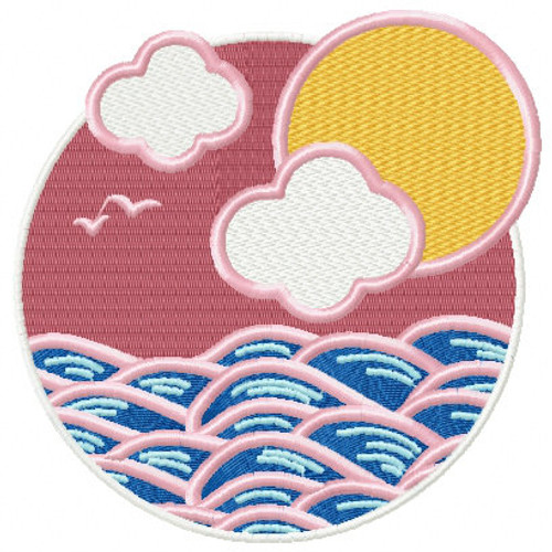 Sea View- Summer Beach Collection #08 Machine Embroidery Design