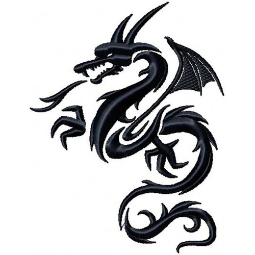 Dragon Tattoo - Tribal Dragon #6 Machine Embroidery Design