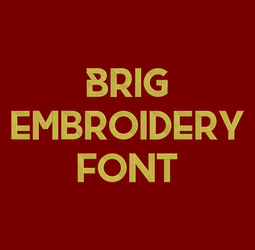 Brig Machine Embroidery Font Now Includes BX Format!