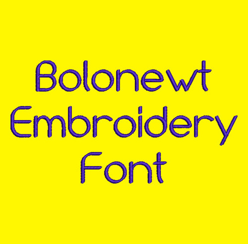 Clean and Crisp - Bolonewt Machine Embroidery Font Now Includes BX Format!