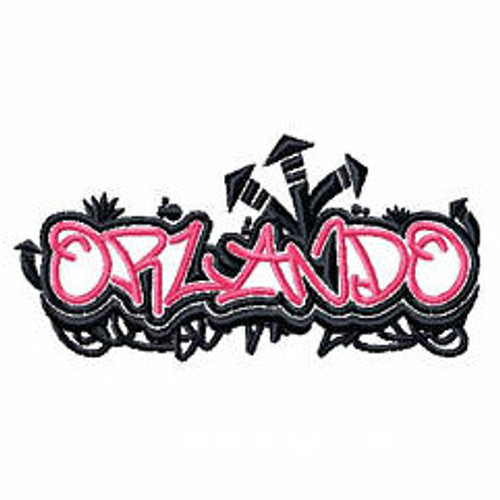 Orlando - Geography Graffiti Collection #07 Machine Embroidery Design