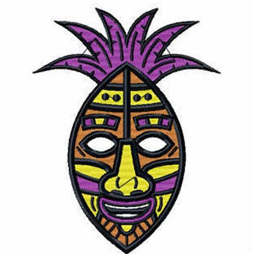 Tribal Mask - Masquerade Design Collection #09 Machine Embroidery Design