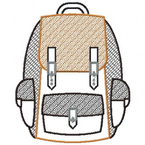 Camp Bag - Camping #04 Machine Embroidery Design
