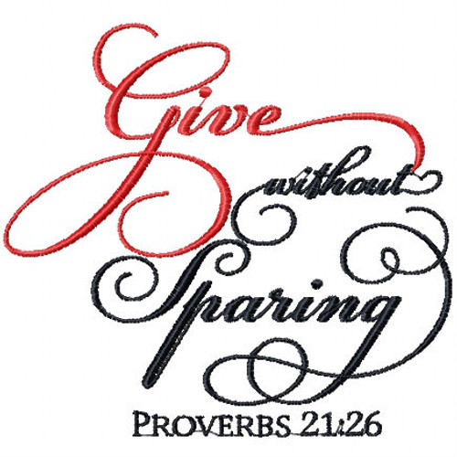 Proverbs 21.26 - Religious Typography Collection #04 Machine Embroidery Design