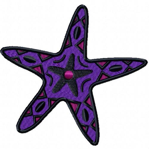 Starfish #06 Machine Embroidery Design