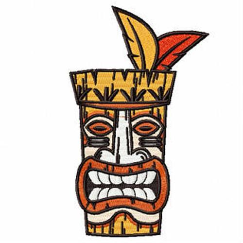 Luau Masks #04 Machine Embroidery Design