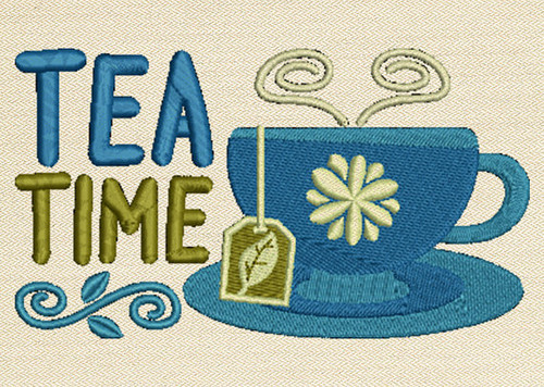 Tea Time Mug Rug In The Hoop Machine Embroidery Design