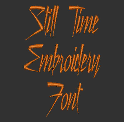 1980's Disco Font - Still Time Machine Embroidery Font Now Includes BX Format!