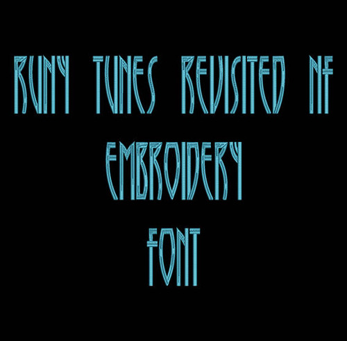 Cartoon Font - Runy Tunes  Attack Machine Embroidery Font Now Includes BX Format!