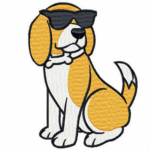 Cool Beagle - Beagle Collection #01 Machine Embroidery Design