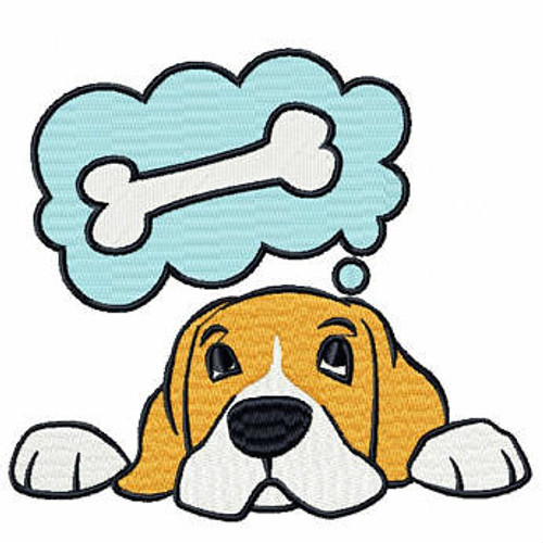 Dreamer Beagle - Beagle Collection #02 Machine Embroidery Design