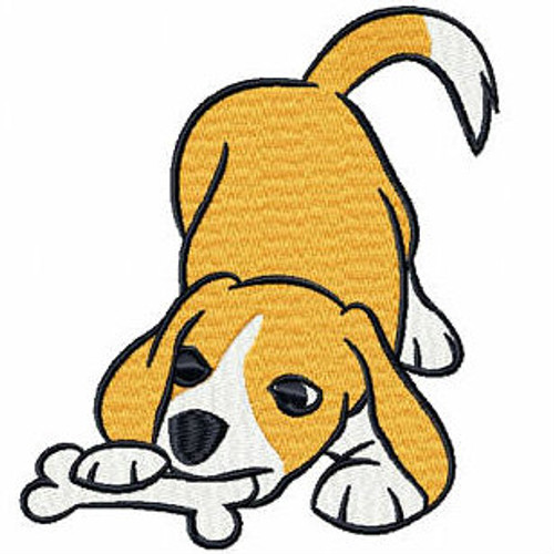 Playful Beagle - Beagle Collection #03 Machine Embroidery Design