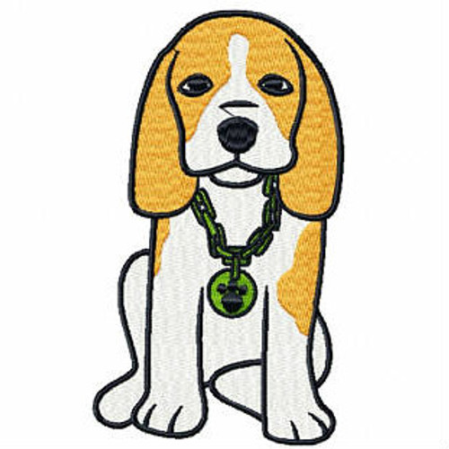 Bling Beagle - Beagle Collection #04 Machine Embroidery Design