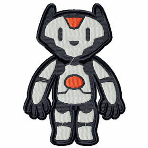 Pet Cyborg - Robot Collection #11 Stitched and Applique Machine Embroidery Design
