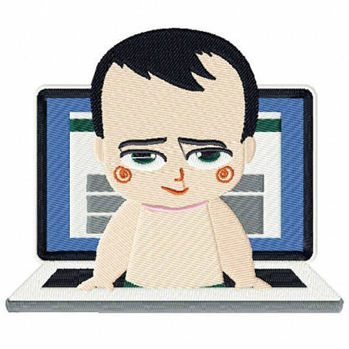 Computer Buff - Baby Techie Collection #4 Machine Embroidery Design