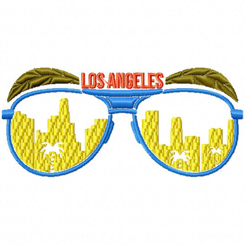 Los Angeles Sunglasses - City Collection #04 Machine Embroidery Design