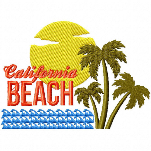 California Beach - City Collection #05 Machine Embroidery Design