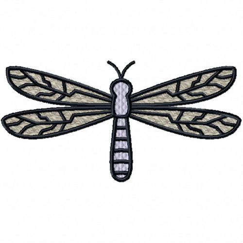 Dragonfly - Insect Collection #05 Stitched and Applique Machine Embroidery Design