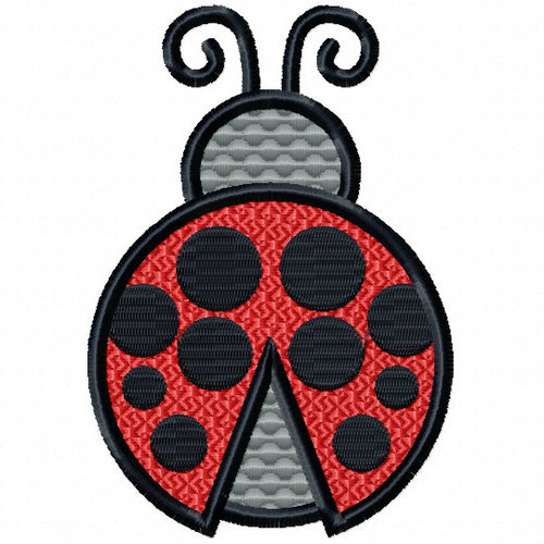 Ladybug - Insect Collection #07 Stitched and Applique Machine Embroidery Design