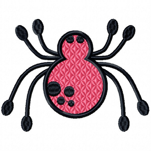 Pink Spider - Insect Collection #11 Stitched and Applique Machine Embroidery Design