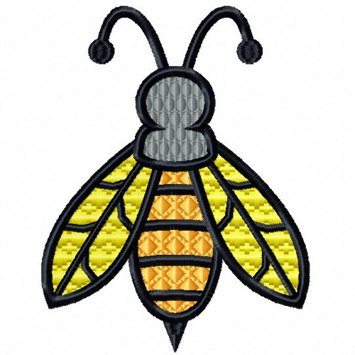 Wasp - Insect Collection #13 Stitched and Applique Machine Embroidery Design